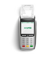 bank pos terminal for payment purchases in shop vector image