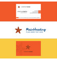 beautiful star fish logo and business card vector image