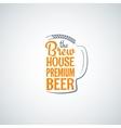 beer bottle glass background vector image vector image