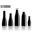 black bottle set background vector image vector image