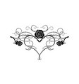 black tattoo flower vector image vector image