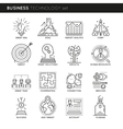 Business Technology Linear Icons Set vector image vector image