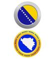 button as a symbol Bosnia vector image vector image