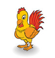 cartoon rooster clipart vector image vector image