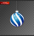 christmas ball on transparent background vector image vector image