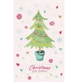 christmas tree market lettering vector image vector image
