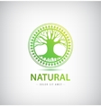 circle eco logo tree vector image vector image