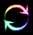 Circular blazing arrows vector image vector image