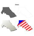 Clinton Map Icon Set vector image vector image