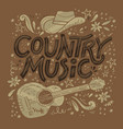 country music festival retro poster vector image vector image