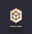 cubic structure logo vector image vector image