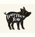 cute pig symbol of new year vector image