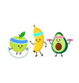 cute smiling happy strong avocado vector image vector image