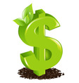 dollar with sprout vector image