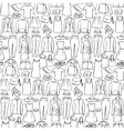 Doodle seamless pattern with woman clothes vector image vector image