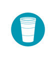 drinks disposable paper cup for takeaway blue vector image vector image