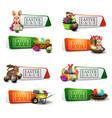 easter sale large set discount colorful banners vector image