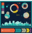 Eco town infographics vector image