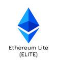 ethereum lite elite crypto vector image vector image