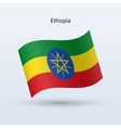 Ethiopia flag waving form vector image