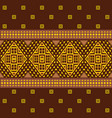 ethnic ornamental geometric pattern vector image