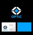 eyes clinic logo ophthalmology emblems vector image