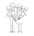 family dad with little son and mom holding vector image vector image
