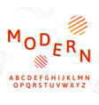 fashion modern alphabet vector image