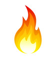 fire icon hot flame bonfire light in explosion vector image vector image