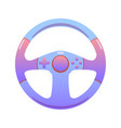 game steering wheel on an isolated background vector image