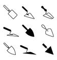 Garden or cement trowel icon vector image vector image