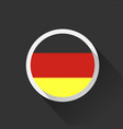 germany national flag on dark background vector image vector image