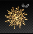 glowing explode of sparkling particles and stras vector image vector image