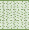 green leaves natural pattern with graceful vector image