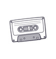 hand drawn doodle retro audio cassette vector image vector image