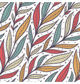hand drawn pattern with decorative floral ornament vector image vector image