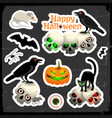 happy halloween design oncept vector image vector image
