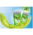 ice tea products ad 3d soft vector image vector image