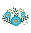 icon flower design vector image vector image