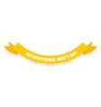 international men day ribbon icon flat style vector image vector image
