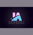 ja alphabet letter join joined letter logo design vector image vector image