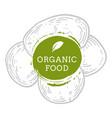 label potato fresh natural eco food hand drawn vector image vector image