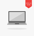 Laptop icon Flat design gray color symbol Modern vector image vector image