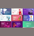 main web page set design website business vector image vector image