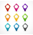 map pointer set Icon pin vector image