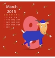 March calendar vector image vector image