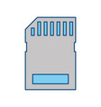 micro sd storage technology vector image