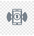 mobile money concept linear icon isolated on vector image vector image