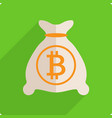 money bag with bitcoin vector image vector image