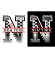 new york brooklyn typography design vector image vector image